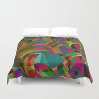 picasso Duvet Covers featuring banana picasso by laura lombardo