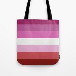 Lesbian Flag Tote Bag