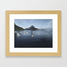 Te Philippines Islands in El Nido Palawan Framed Art Print