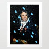 Brutalized Portrait of a Gentleman Art Print