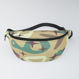 Retro Mid Century Modern Abstract Composition 940 Fanny Pack