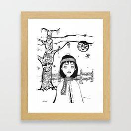 Margot and the Moon Framed Art Print