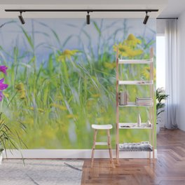 Wildflowers - Gladiolus illyricus and Glebionis segetum Wall Mural