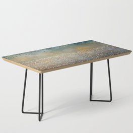 Landscape Dots - Turquoise Coffee Table
