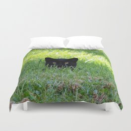 Panther in the Grass Duvet Cover