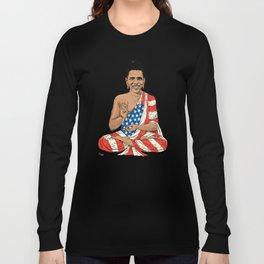 Buddha Obama Long Sleeve T-shirt