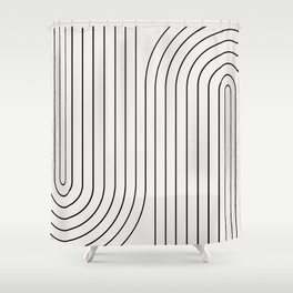 Minimal Line Curvature I Shower Curtain