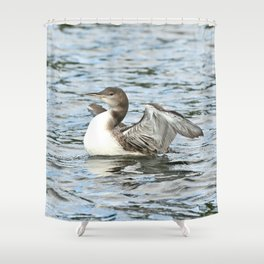 Baby loon all grown up Shower Curtain