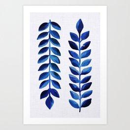 Tropical Indigo II Art Print