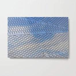 Metal shapes with line notches Metal Print