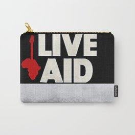 Live Aid 1985 Vintage Concert Festival Gig Advertising Music Poster Carry-All Pouch