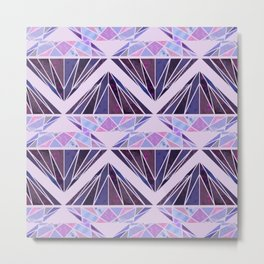 Purple Diamond2 Metal Print