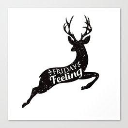 Friday Feeling Jump Canvas Print