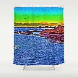 Saturated Surf Shower Curtain