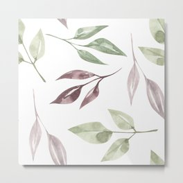 Floral Patterns Watercolor Metal Print