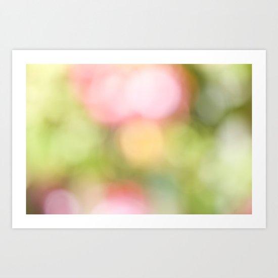 Pastel Bokeh  Art Print