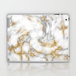 Gold Speckled Marble Laptop & iPad Skin