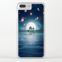 Travel through the Lights Clear iPhone Case