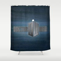 doctor who Shower Curtains featuring Doctor Who by Janismarika