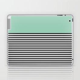 STRIPE COLORBLOCK {MUTED JADE} Laptop & iPad Skin