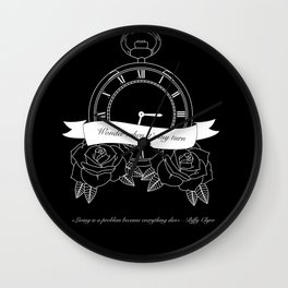 """""""Living is a problem because everything dies"""" - part II - Biffy Clyro Wall Clock"""