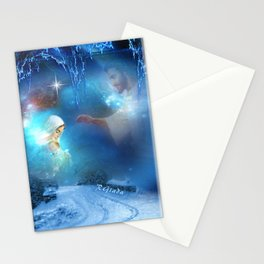 Holy Night - Christmas Art By Giada Rossi Stationery Cards