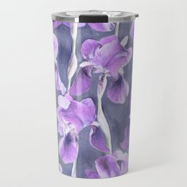 Simple Iris Pattern in Pastel Purple Travel Mug