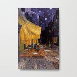 The Cafe Terrace on the Place du Forum Arles  at Night  Vincent van Gogh Metal Print