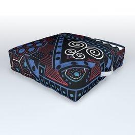 Zesty Zentangle Outdoor Floor Cushion