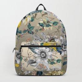 Exotic Fragrant Floral Garden in Gold Backpack