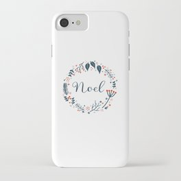 Noel Christmas Wreath iPhone Case
