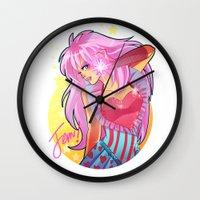 jem Wall Clocks featuring Jem by HanieMohd