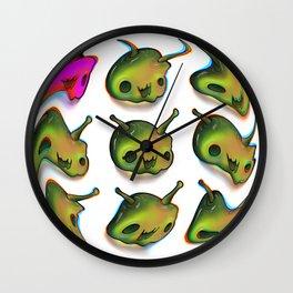 cute skulls Wall Clock