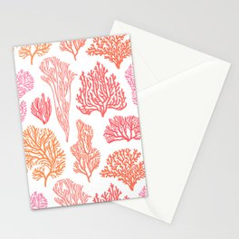 Coral Mania Stationery Cards