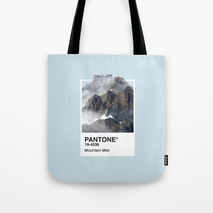 Pantone Series – Mountain Mist Tote Bag
