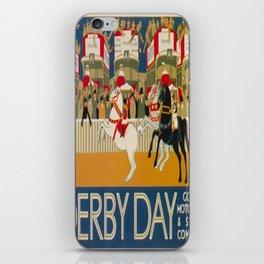 Vintage poster - Derby Day iPhone Skin