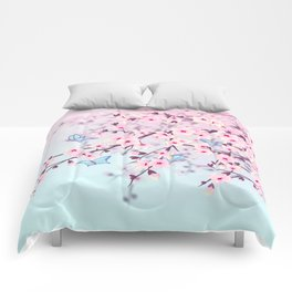 Cherry Blossoms Ladscape Comforters