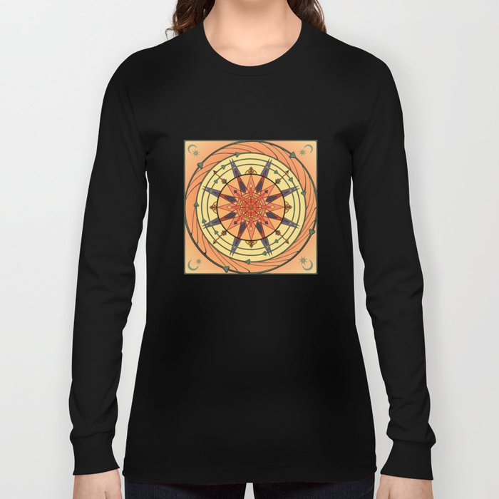 Radiating Sun Long Sleeve T-shirt