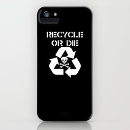 Recycle White iPhone Case