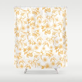 Aesthetic and simple bees pattern Shower Curtain