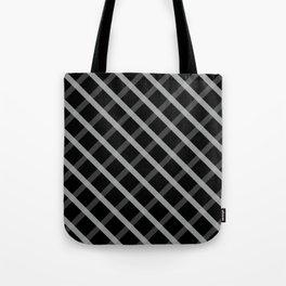 Gray White Square Pattern Geomeric Tote Bag