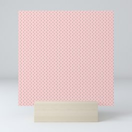 Mouse Forest Friends All Over Repeat Pattern in Baby Pink Mini Art Print