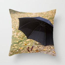 I never carry an umbrella. I'm prepared to walk in an eternal sunshine. Throw Pillow