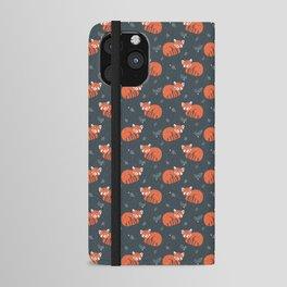 Red Panda Pattern iPhone Wallet Case