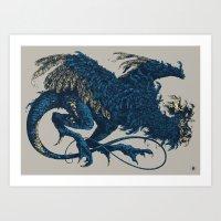 Bestiary / Cockatrice Art Print