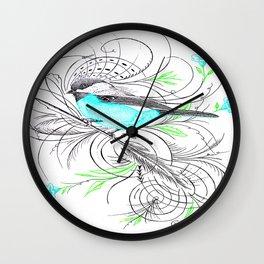Blue Robin Wall Clock