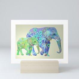 Elaphant celebration Mini Art Print