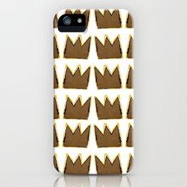 Crown Basquiat iPhone Case