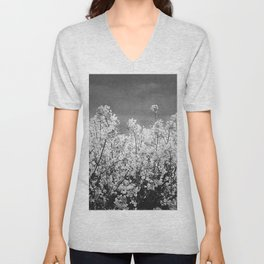 White oil: yellow rape flowers Unisex V-Neck