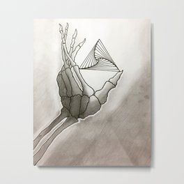SkeletoHand Metal Print